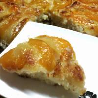 Torta invertida de manzana fácil