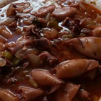 Calamares en salsa con arroz