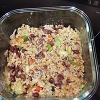 Ensalada de azukis y arroz integral