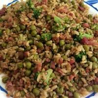 Arroz integral y quinoa con brócoli