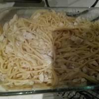 Spaguettis a la parmesana