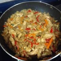Quinoa con pollo al curry y calabaza