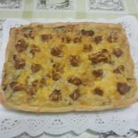 Hojaldre de tortilla y jamón