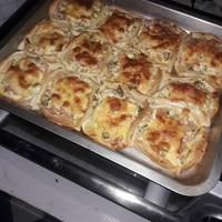 Canastitas de ricota, jamón y queso