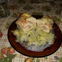 Presitas de pollo relleno al horno