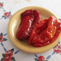 Resultado de imagen de pimientos rojos asados y pelados