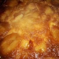 Torta invertida de peras con masa de budín súper fácil
