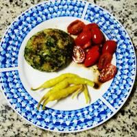 Medallones de quinoa y espinacas