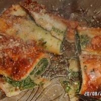 Canelones de verdura y calabaza