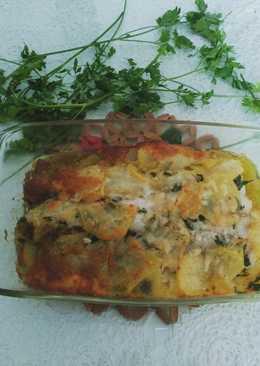 Rosada al horno con patatas