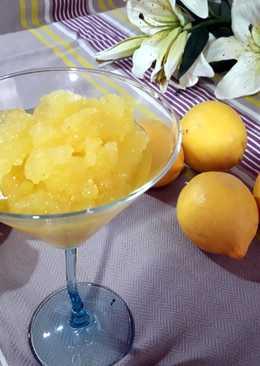 Granizado de limón, canela y hierbabuena