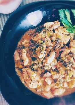 Pollo con salsa de col kale al toque de canela (apto para diabéticos) #por una diabetes con sabor