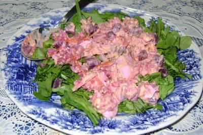 Ensalada refrescante de remolacha y arroz integral