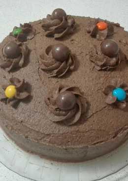 Torta de Vainilla con crema de chocolate