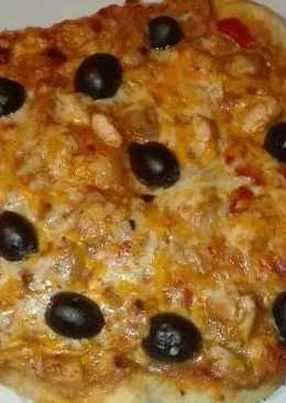 Pizza burrito de pollo y champiñones en la olla GM g