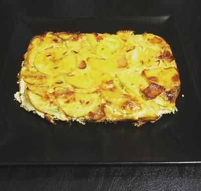 Tortilla de calabacín y patatas al horno