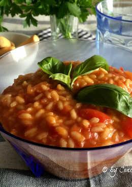 Risotto de Tomate al Aroma de Albahaca