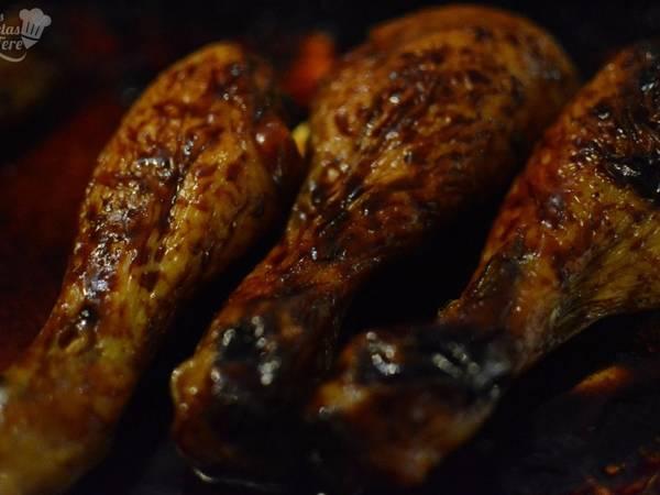 Jamoncitos de pollo al curry, miel y limón