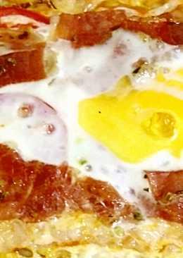 Pizza casera de jamón serrano