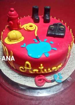 Torta bombero de cumpleaños