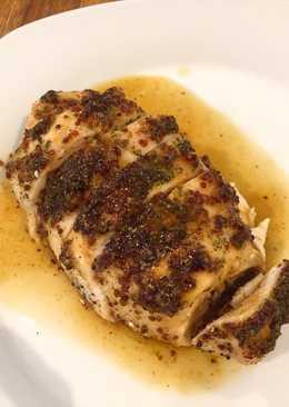 Pollo a la miel mostaza