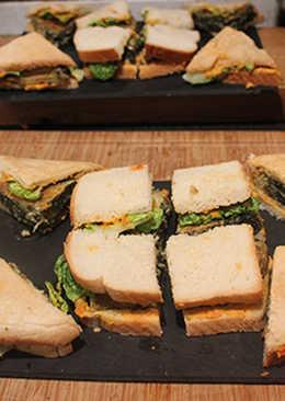Aperitivos de tortilla de algas