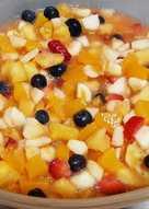 Ensalada de frutas con arándanos