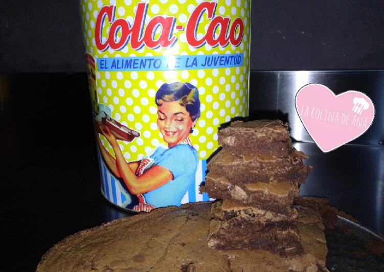 Brownie de Cola-Cao