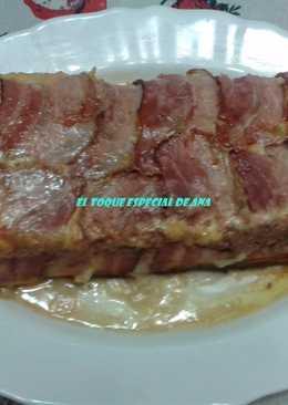 Pastel de carne con tortilla y jamón con mi toque especial
