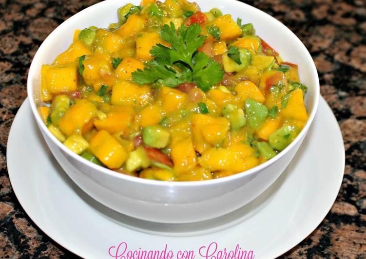 Ceviche de mango receta de cocinando con carolina cookpad for Cocinar con mango
