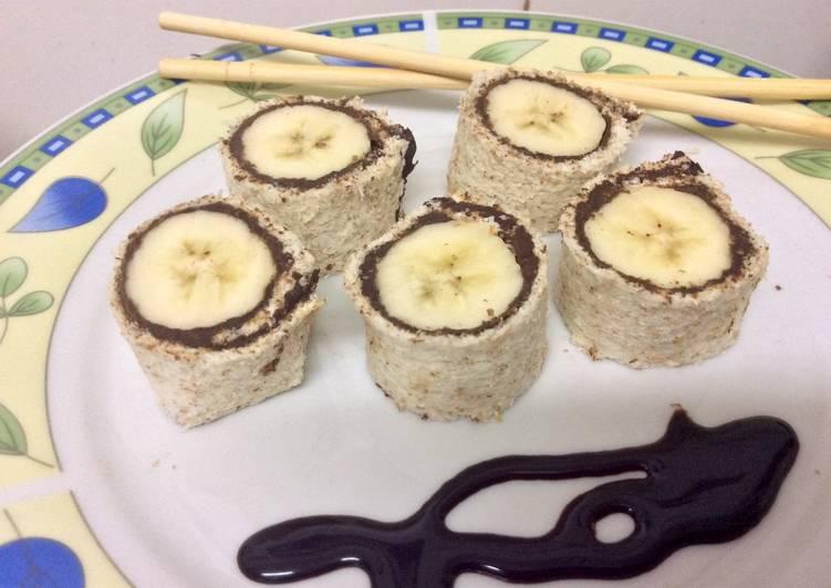 Well-known Sushi de plátano y chocolate 🍌🍫🍞 Receta de María José MR  MV02