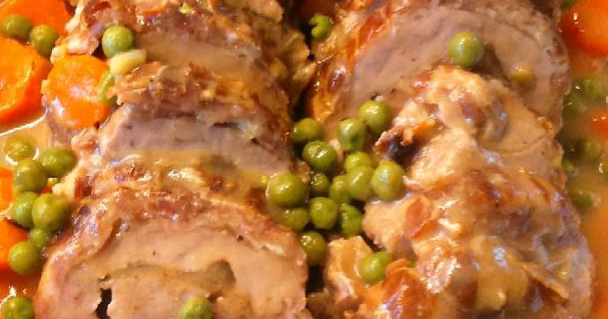 Solomillo de cerdo relleno 35 recetas caseras cookpad - Solomillo de cerdo encebollado ...