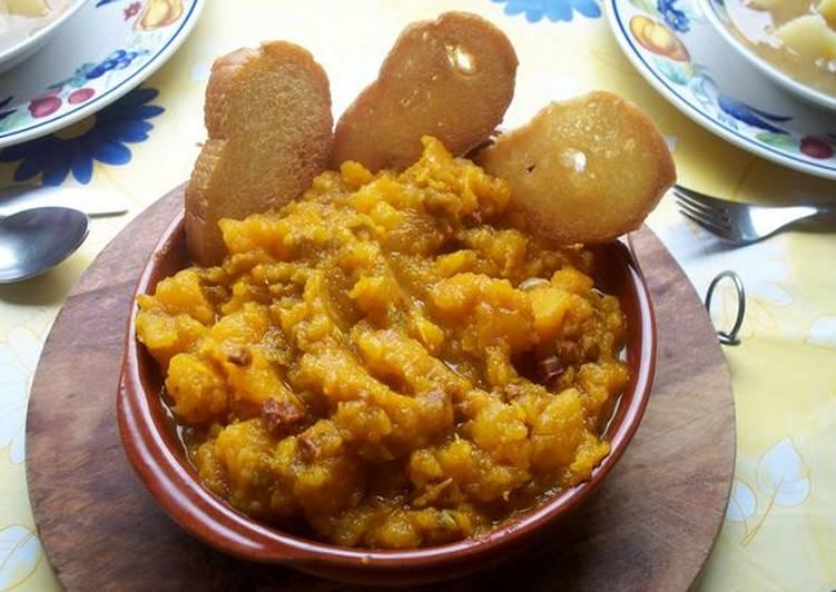 Calabaza Frita Con Chorizo De Ciervo Receta De Rosalia Mena Cookpad - Recetas-de-calabaza-frita