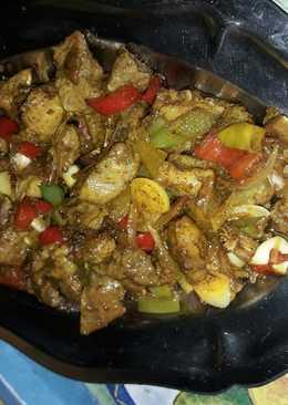 Pinchos de carne y verduras