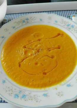 Crema de calabaza, zanahoria y puerro