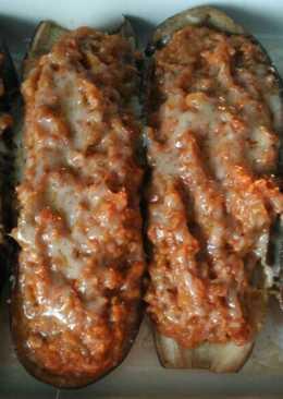 Berenjenas rellenas de carne - Thermomix. Apto para diabéticos