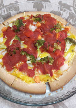 Pizza sin gluten vegana🍕
