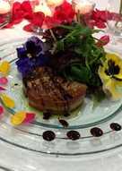 Ensalada tibia de foie gras de pato