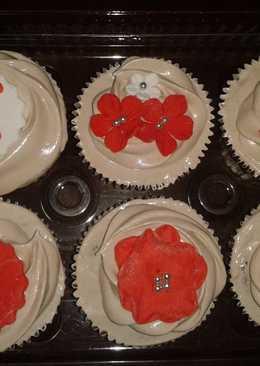 Cup cake de capucchino y crema italiana de chocolate