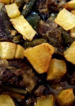 Estofado de ternera y verduras en olla exprés rápida (vídeoreceta)