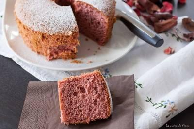 Chiffon Cake de frutos del bosque