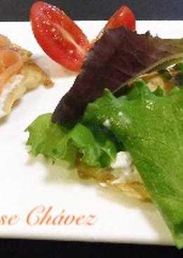 Ensalada de salmón y mascarpone con eneldo