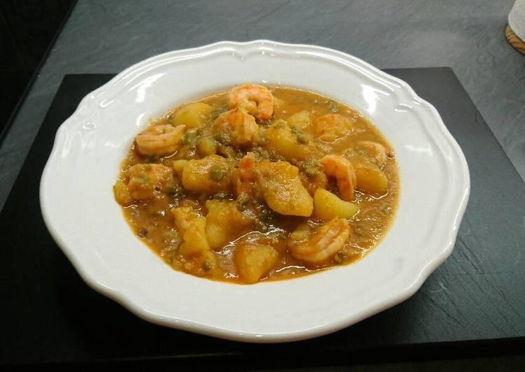 Caldereta de langostinos receta de david hernandez - Caldereta de langostinos ...