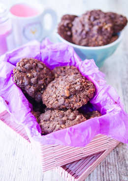 Galletas de muesli y chocolate