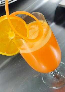 Zumo natural de Naranja, zanahoria y Jengibre