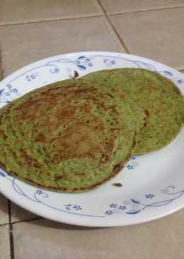 Pancakes de avena y espinaca