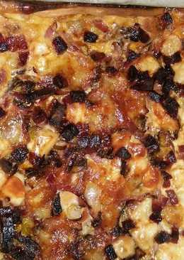 Quiche con bacon y chorizo