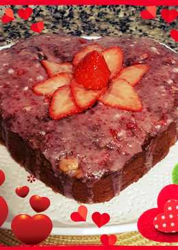 Bizcocho corazón de ♥... fresa