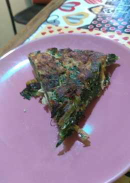 Tortilla de acelga, batata y pechuga para dieta de acelerar metabolismo