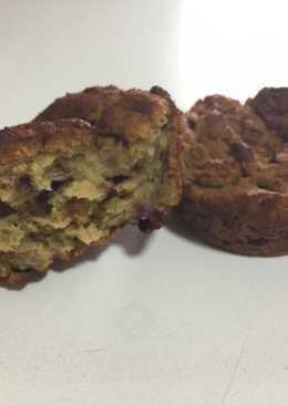 Muffins de harina de quinoa y mora
